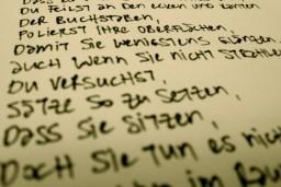 Sätze setzen.