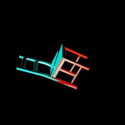Neben dem Stuhl.
